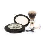 Captain Fawcett's Shaving Brush, Razor and Shaving Soap Gift Set