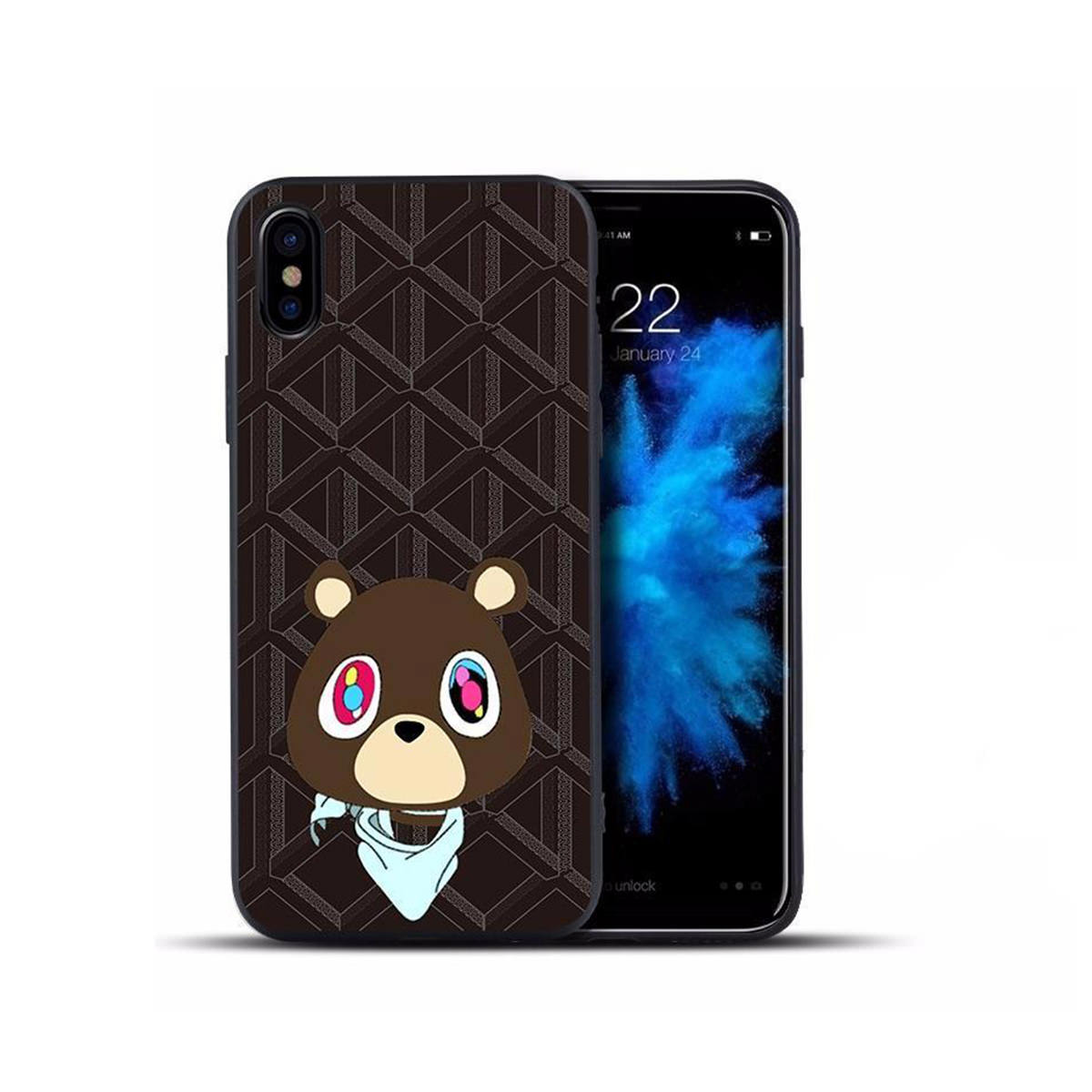 Yeezy Bear Black Case for iPhone X