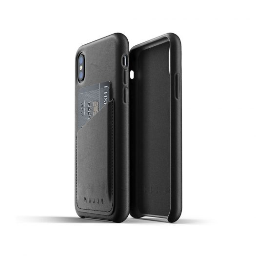 MUJJO Leather Wallet Case For iPhone - BLACK