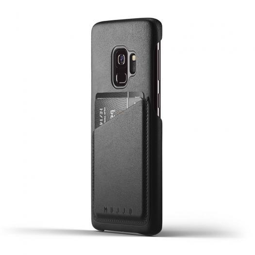 MUJJO Leather Wallet Cases for Galaxy S9 and S9 Plus-Black