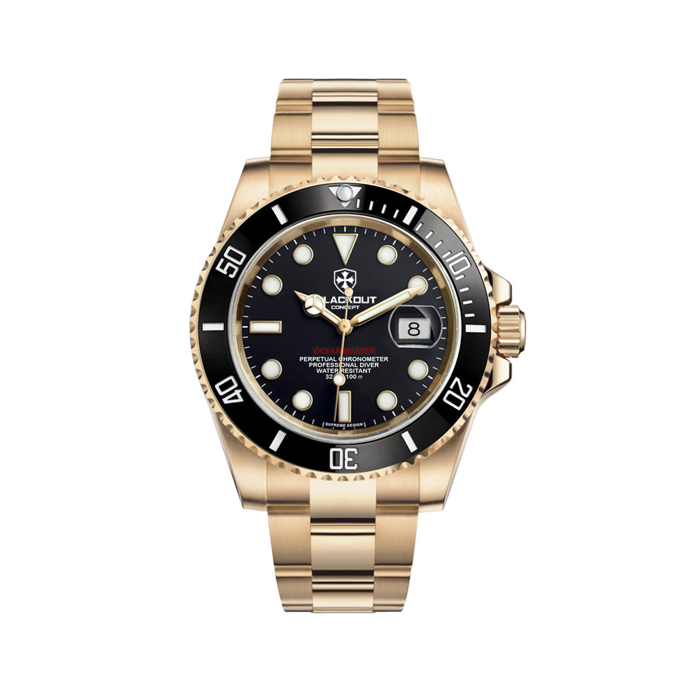 Blackout Concept Ocean Master Gold Automatic Watch