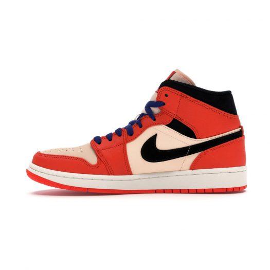 Jordan 1 Mid Team Orange Black