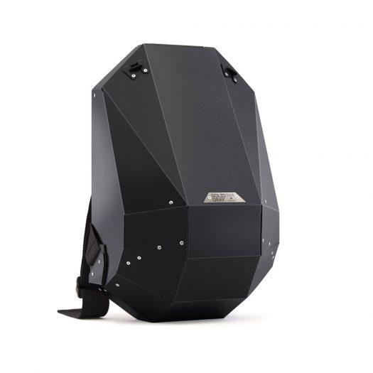 Hard-Shell Polymer Backpack Matte Black