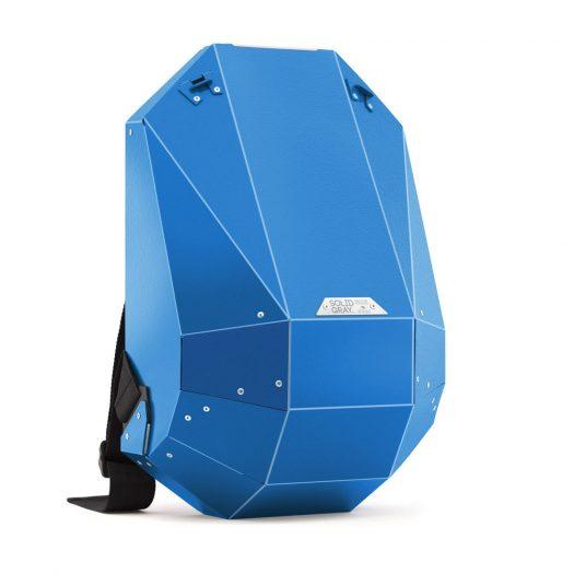 Hard-Shell Polymer Backpack Matte Blue