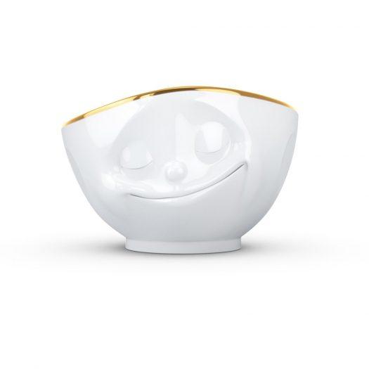 Golden Rim Bowl Happy