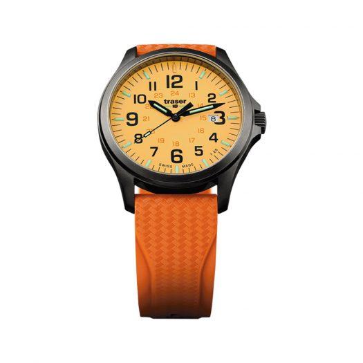 Traser - P67 Officer Pro GunMetal Orange Watch