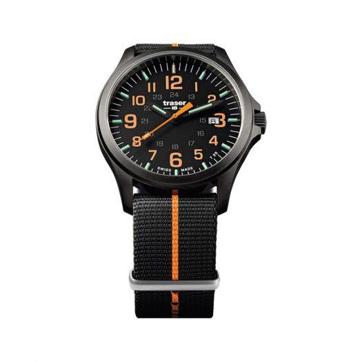 Traser - P67 Officer Pro GunMetal Black/Orange Watch