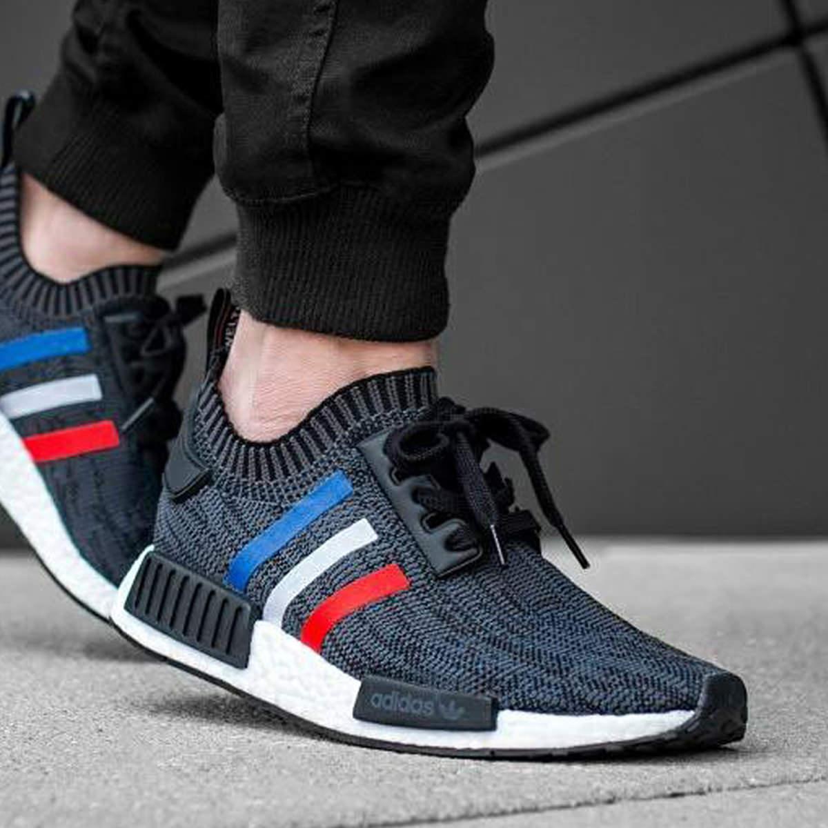 adidas NMD R1 Tri Color Stripes Black