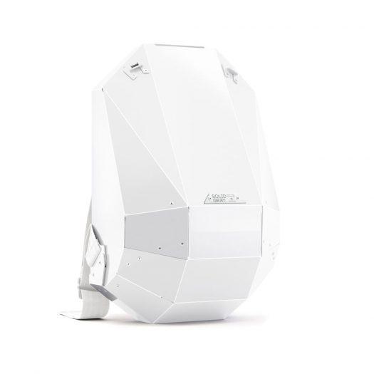 Hard-Shell Polymer Backpack Glossy White