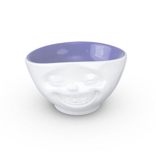 White / Lavender Bowl Laughing