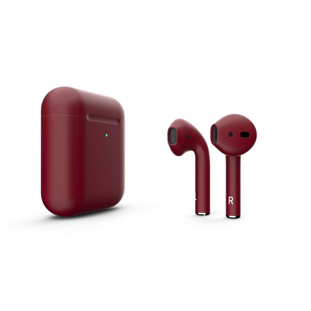 Customized Apple AirPods Matte Red