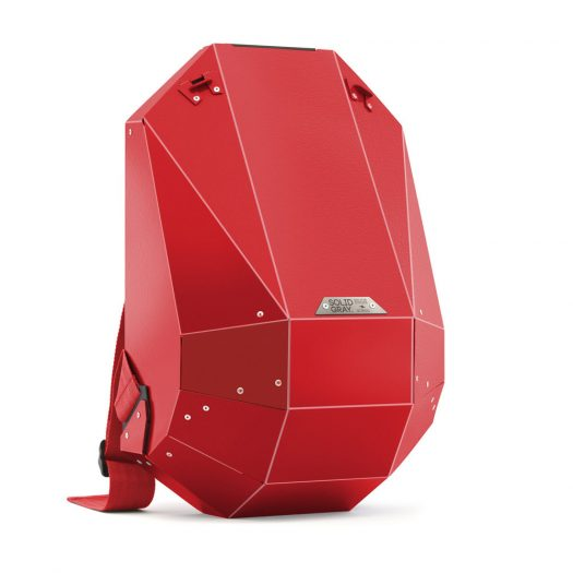 Hard-Shell Polymer Backpack Matte Red