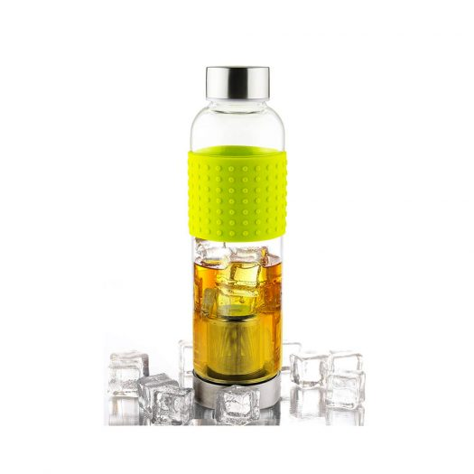 Asobu Ice Tea and Coffee Infuser Glass Water Bottle