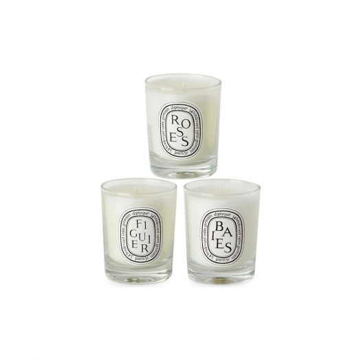 DIPTYQUE Baies Figuier and Roses Mini Candles 3 x 70g