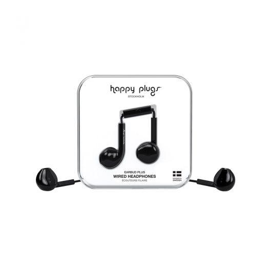 Happy Plugs Wired Earbud Plus Headphone - Black