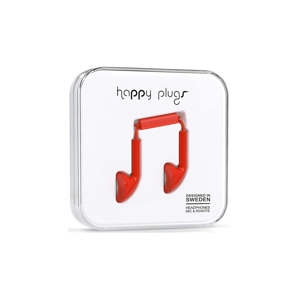 Happy Plugs Earbud Wired – Red