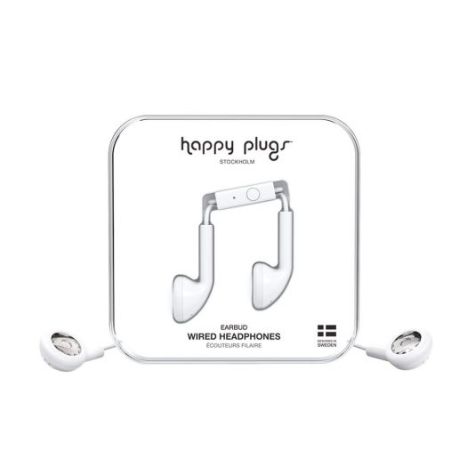 Happy Plugs Earbud Wired - White
