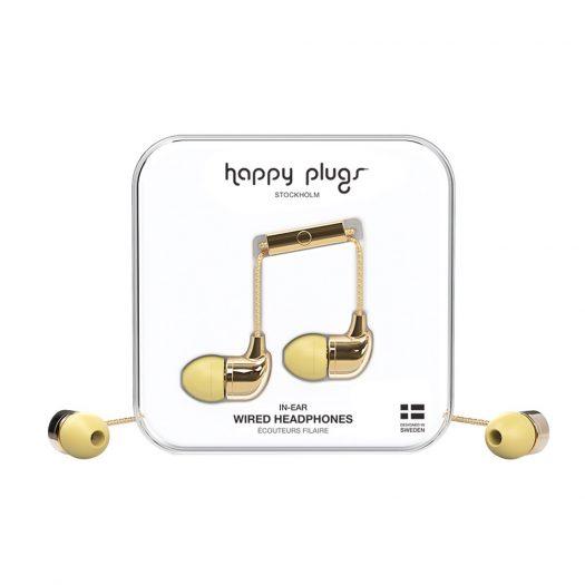 Happy Plugs Wired Earbud Deluxe Earphones - Gold