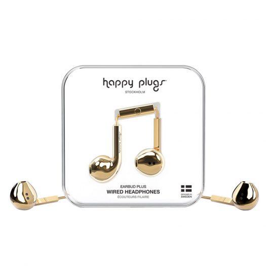 Happy Plugs Wired Earbud Plus Earphones - Gold