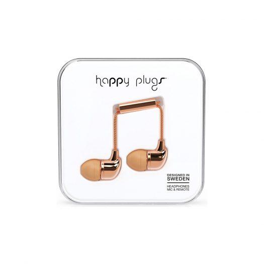 Happy Plugs Wired Earbud Deluxe Earphones - Rose Gold