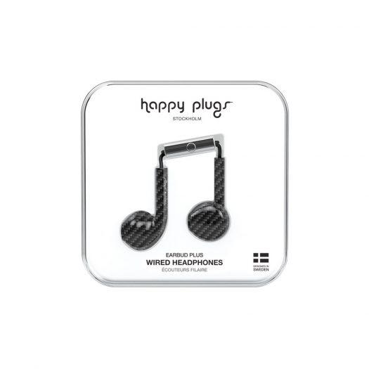 Happy Plugs Wired Earbud Plus Earphones - Carbon Fiber