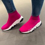 Balenciaga Speed Knit Trainers Pink