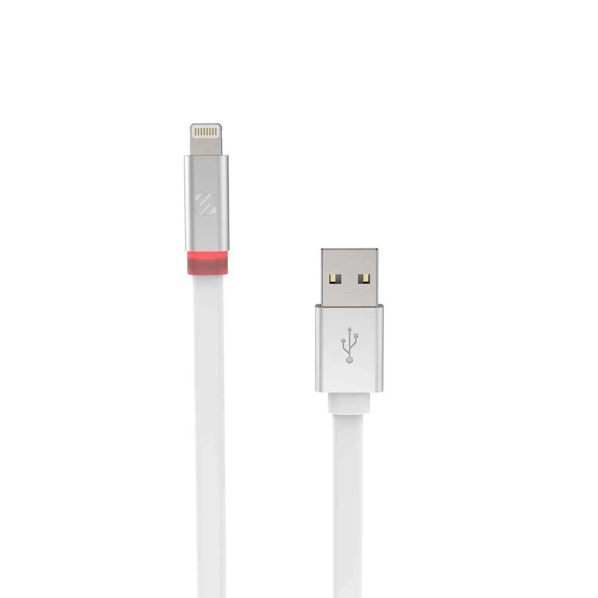 SCOSCHE FlatOut Lightning to USB Charge and Sync Cable with LED Indicator