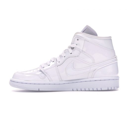 Jordan 1 Mid Triple White For Women