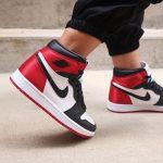 Jordan 1 Retro High Satin Black Toe For Women