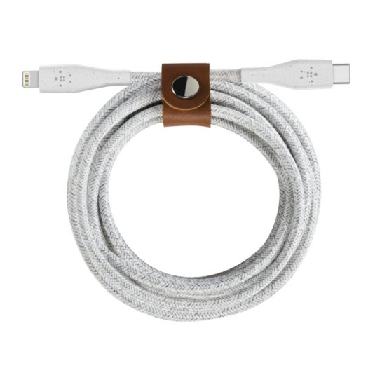 BOOST↑CHARGE™ USB-C™ Cable with Lightning Connector + Strap White