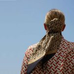 BURBERRY-Monogram-print-silk-hair-scarf-1