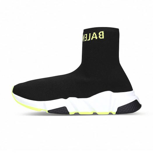 Balenciaga Speed Knitted High-top Trainers Black Yellow