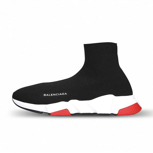 Balenciaga Speed Stretch Knit Trainers Black Red