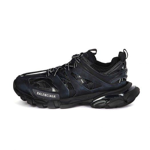 Balenciaga Track Nylon & Mesh Trainers Black