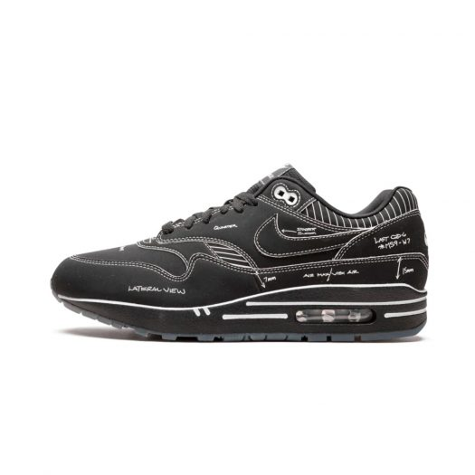 Nike Air Max 1 Tinker Schematic Black