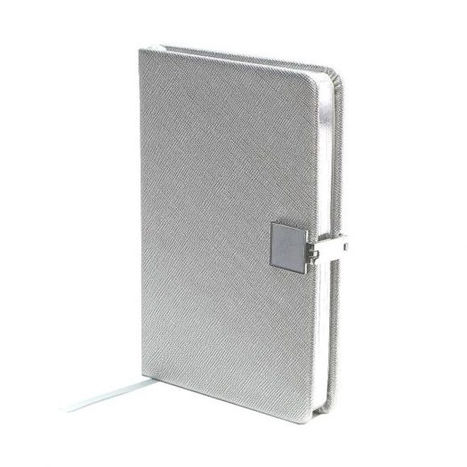 Silver & Silver Notebook by Addison Ross