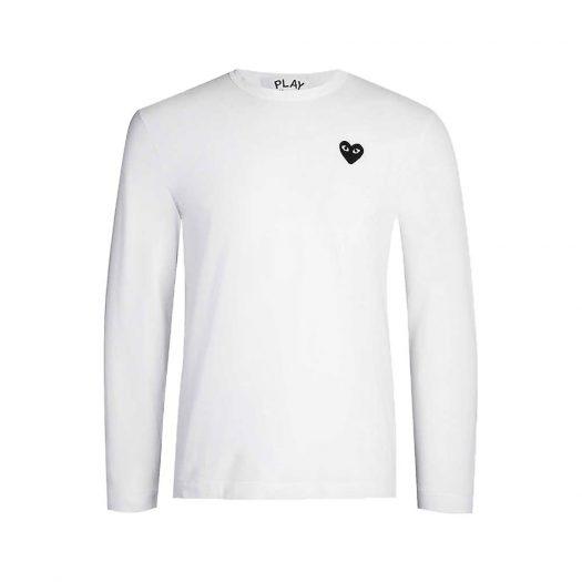 Comme Des Garcons Heart-appliquéd Cotton-jersey T-shirt White