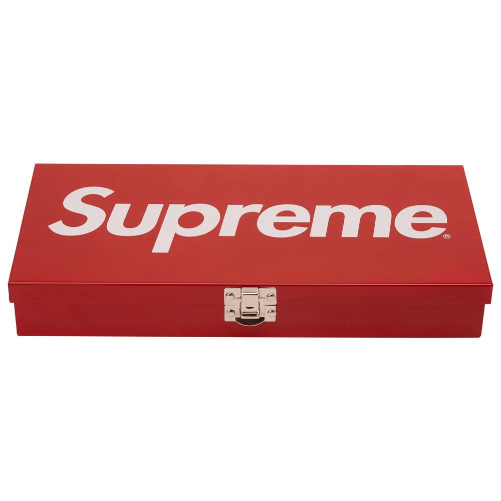 Supreme Large Metal Storage Box Red
