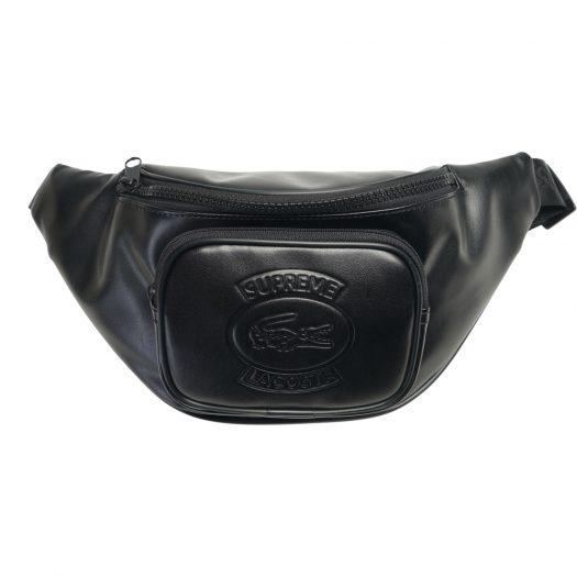 Supreme LACOSTE Waist Bag Black
