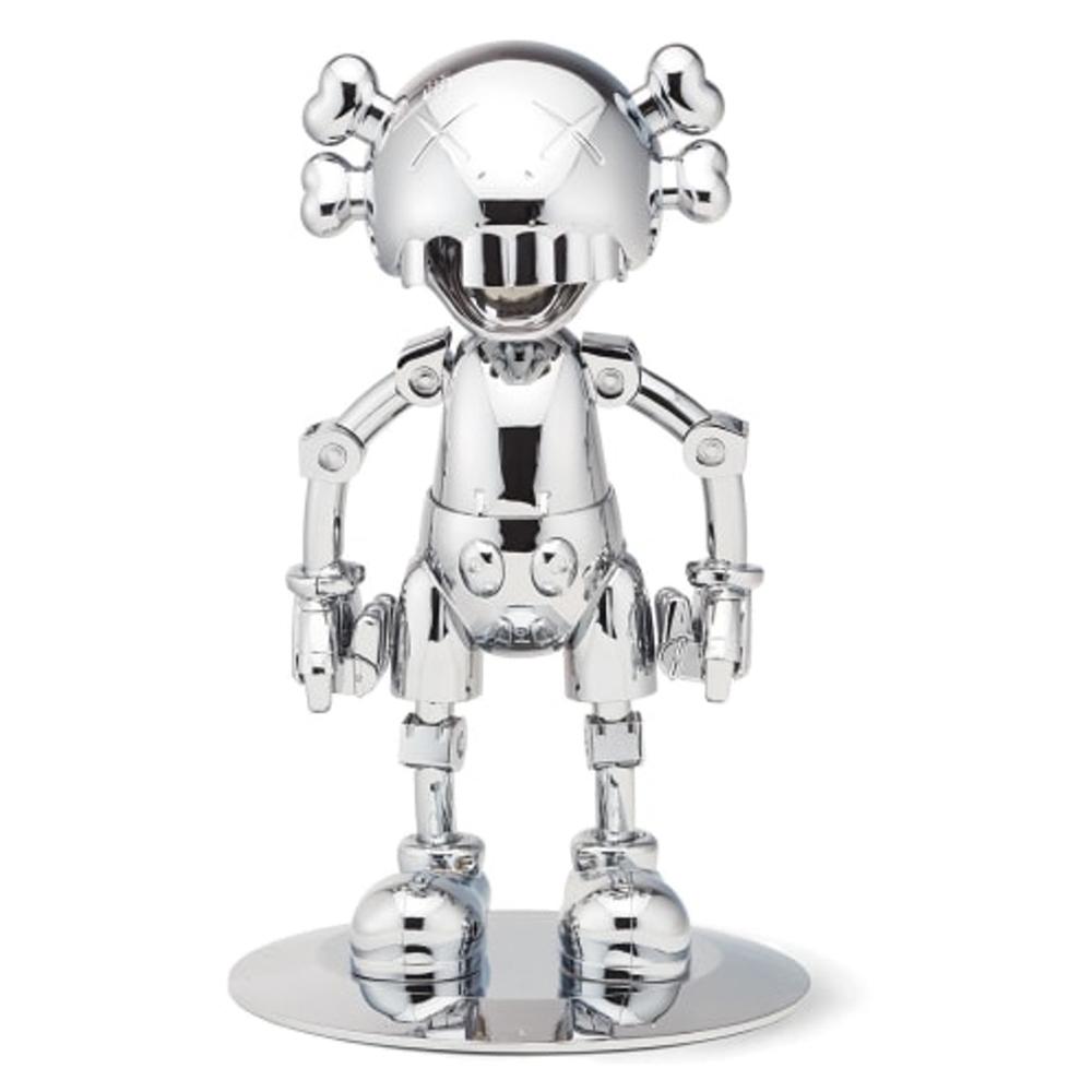 KAWS Hajime Sorayama No Future Companion Figure Silver Chrome
