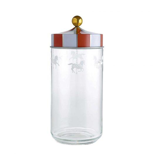 Alessi Circus Glass Jar 25cm