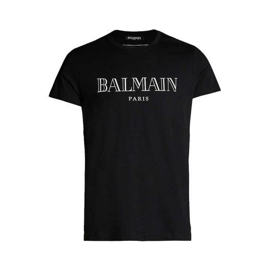 Logo Print Cotton Jersey T-shirt By Balmain