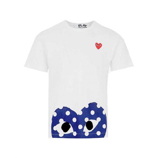 Polka Dot Logo Print Cotton Jersey T-shirt White By Comme Des Garcons