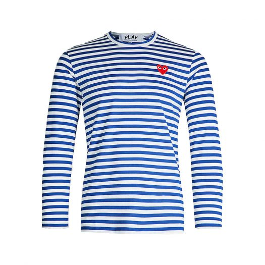 Striped Cotton Jersey Top Navy By Comme Des Garcons