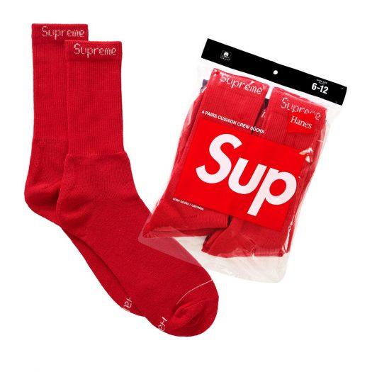 Supreme Hanes Socks (4 Pack) Red