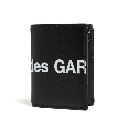 Comme Des Garcons Logo Print Leather Wallet Black
