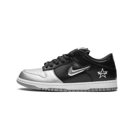 Nike SB Dunk Low Supreme Jewel Swoosh Silver