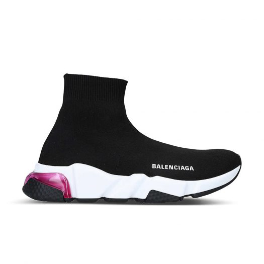 Balenciaga Speed Knitted Bubble High Top Trainers  Black Other