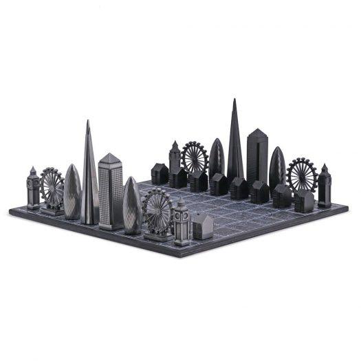 Skyline Chess Set - Premium Metal London Edition
