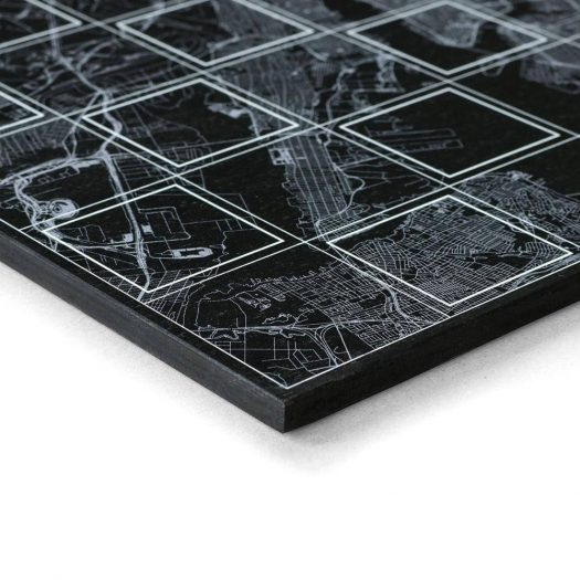 Chess Board with New York Map